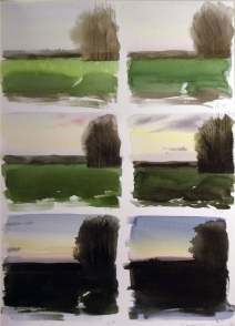 Solnedgang, 13.01.12, 15.35 to 16.58pm (sold)