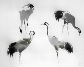 Four Crane Studies (sold)