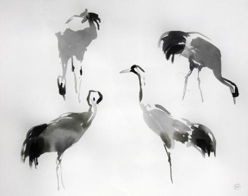 Four Crane Studies (sold)