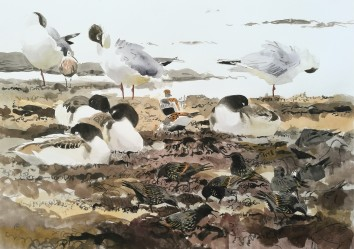 More seaweed and birds, Salthammer (sold)